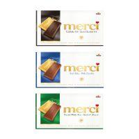 100 g Tafelschokolade merci Edelbitter 72 % mit Werbebanderole und Werbedruck Bild 2