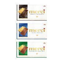 100 g Tafelschokolade merci Mandel-Milch-Nuss mit Werbebanderole und Werbedruck Bild 2