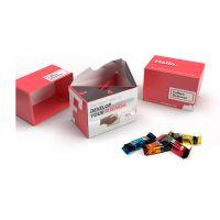 120 g Lindt HELLO Mini Sticks in nachhaltiger Werbebox Bild 1
