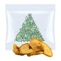15 g Apfelchips mit Zimt im Werbetütchen mit Werbedruck Bild 1