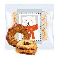 15 g Express Bio Apfelringe mit Zimt im Flowpack mit Werbeetikett Bild 1