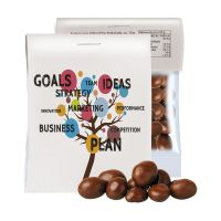 15 g Express Bio Schoko-Erdnüsse im Tütchen mit Werbereiter Bild 1