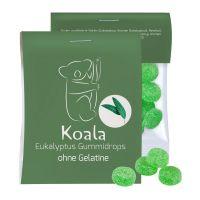 15 g Express vegane Eukalyptus Menthol Fruchtgummi im Flowpack mit Werbereiter Bild 1