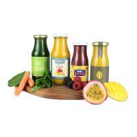 150 ml Bio Smoothie Ananas, Mango, Ingwer & Honig mit Werbeetikett Bild 2