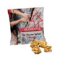 18 g Bio Crunchy Müsli Würfel Cranberry im Werbetütchen mit Logodruck Bild 1