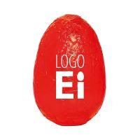 18 g Schoko-Osterei in Stanniol rot mit Logodruck Bild 1