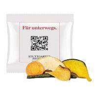20 g süße Gemüse-Fruchtchips im Werbetütchen mit Logodruck Bild 1