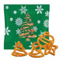 20 g Weihnachtsbrezel-Mix in Werbetüte mit Logodruck Bild 1