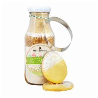215 g Backmischung Osterkekse in Flasche mit Ausstechform und Werbeetikett Bild 1