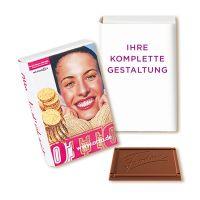 22,5 g FEODORA Schokotäfelchen Minibuch mit Werbedruck Bild 2