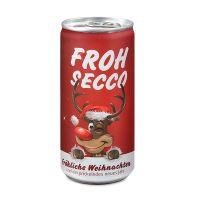 24 Seccodosen FROHSECCO Elch - rot Bild 1