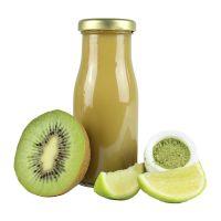 245 ml Bio Smoothie Kiwi, Limette & Weizengras mit Werbeetikett Bild 1