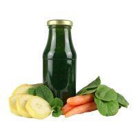 245 ml Bio Smoothie Spinat, Möhre, Mango & Minze mit Werbeetikett Bild 1
