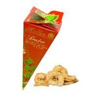 25 g Bio Bananenchips in eckiger Schultüte mit Werbedruck Bild 1