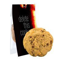 25 g Bio-Cookie Vollmilchschoko-Haselnuss im Flowpack mit Werbereiter Bild 1