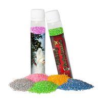 25 g Dekor-Zucker im Kunststoff Reagenzglas mit Werbe-Etikett und Logodruck Bild 1