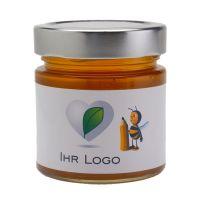 250 g Akazienhonig im Glas mit Banderolenetikett und Logodruck Bild 1