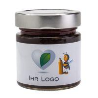 250 g Kastanienhonig im Glas mit Banderolenetikett und Logodruck Bild 1