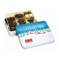 250 g Lebkuchen-Gebäckmischung in Präsentdose mit Logoeindruck Bild 4