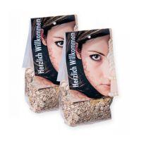 250 g Schoko Müsli im Bodenbeutel mit Werbereiter Bild 1