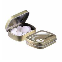28 g mentos Mint in Mini Klappdeckeldose mit Werbedruck Bild 2