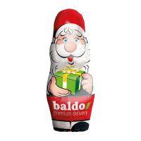 28 g Stanniol-Schoko-Weihnachtsmann mit Werbedruck Bild 1