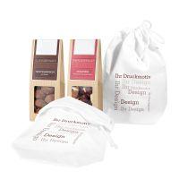 2er Snack im Baumwollsäckchen mit Werbebedruckung Bild 1