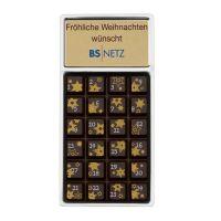 30 g Adventskalender Geschenkpackung mit bedruckbarem Etikett Bild 1