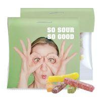 30 g Express Saure Fruchtgummi-Stäbchen im Tütchen mit Werbereiter Bild 1