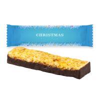 30 g Orange mit Schokolade Müsliriegel im Flowpack mit Werbedruck Bild 1