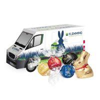 3D Oster Transporter Lindt Schokoladenmischung mit Werbebedruckung Bild 1