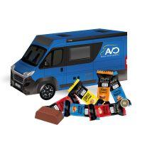 3D Präsent Camper Lindt HELLO Mini Stick Mix mit Werbedruck Bild 2