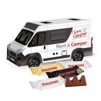 3D Präsent Camper TOBLERONE Minis mit Werbedruck Bild 1