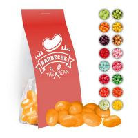 40 g Express Jelly Beans sortenrein im Standbeutel mit Werbereiter Bild 1