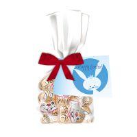 40 g Schoko-Hasen im Flachbeutel mit Werbeanhänger Bild 1