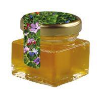 40 ml Bio Wildblumenhonig im Glas mit Siegeletikett und Logodruck Bild 1