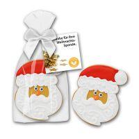 45 g Santa Cookie in Glanzbeutel mit Werbekarte Bild 1