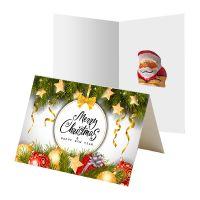 5 g Schoko-Weihnachtswichtel in bedruckbarer Klappkarte Bild 1