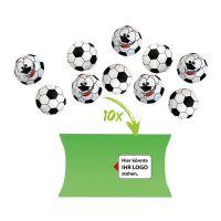 50 g Schoko-Fußbälle im Flachbeutel mit Werbereiter Bild 1