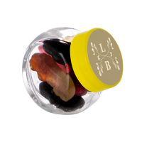 50 ml Schräghalsglas befüllt mit Lakritze in PKW-Form und mit Werbeetikett Bild 3