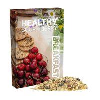 60 g Bio Müsli Sauerkirsche im Portionskarton mit Werbedruck Bild 1
