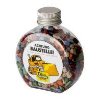 60 g Bunter Schoko-Splitt in Candy Bottle mit Werbeetikett Bild 1