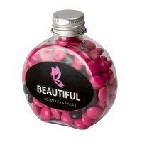60 g farbige Schoko-Linsen in Candy Bottle mit Werbeetikett Bild 1
