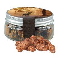 60 g Feuergebrannte Bio Mandeln in Sweet Dose mit Werbe-Flügeletikett Bild 1