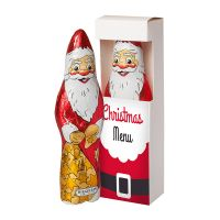 60 g Schoko Weihnachtsmann in Sichtfenster-Faltschachtel mit Logodruck Bild 1