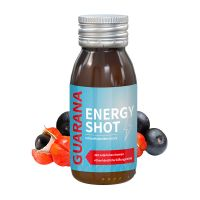 60 ml Energy-Shot Guarana in Glasfläschchen mit Werbeetikett Bild 1