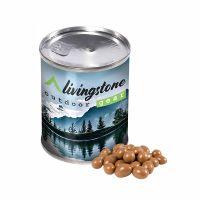 65 g Schokoladen-Erdnüsse in einer Dose mit Werbe-Banderole Bild 1