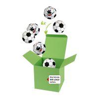 75 g Schoko-Fußbälle in Color-Kicker-Box mit Logodruck Bild 1