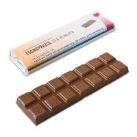 75 g Schokoladenriegel mit Banderole und Werbedruck Bild 1
