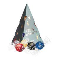 75 g Weihnachtsbaum Lindt Lindor Pralinés mit Werbedruck Bild 1